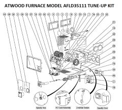 Atwood / HydroFlame Furnace Model AFLD35111 Tune-Up Kit