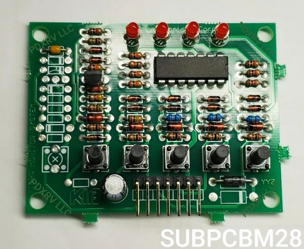 KIB Electronics Replacement Board Assembly, M25 & M28 Series, SUBPCBM28