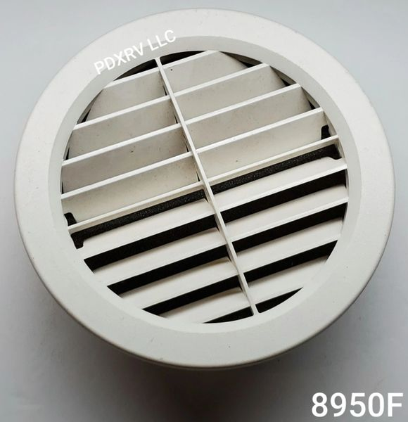 Foam Filtered Large Louvered RV AC Vent
