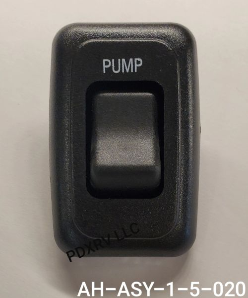 Black Momentary (On) / Off Contoured Water Pump Switch AH-ASY-1-5-020