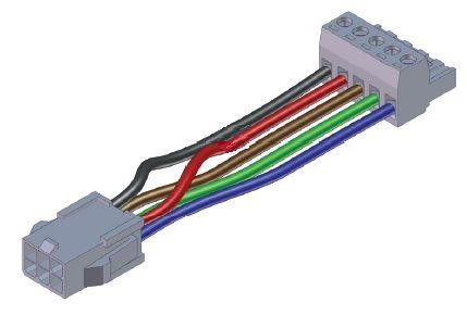 """Lippert Slide Controller Pigtail Harness, 6"""", 258760"""