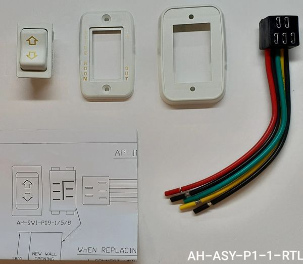 Slide Room Extend / Retract Switch Kit, White, AH-ASY-P1-1-RTL