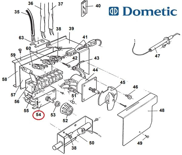 Dometic Refrigerator Thermostat, Electric, 2930758012