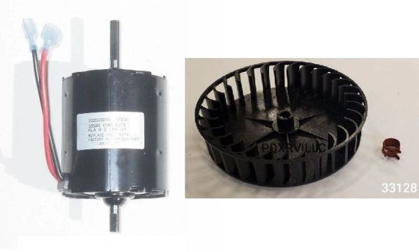 Atwood / HydroFlame Furnace Model 8531-II Blower Motor And Wheel Kit