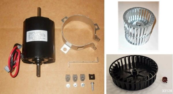 Atwood / HydroFlame Furnace Model 8935-DC-II Motor And Blower Wheel Kit