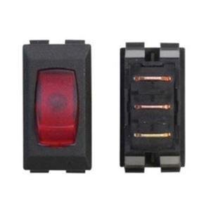 120 Volt Black Switch / Red Lit