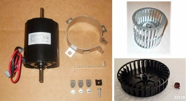 Atwood / HydroFlame Furnace Model 8940-DC-I Motor And Blower Wheel Kit