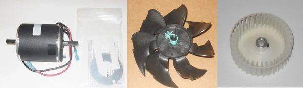Suburban Furnace Model NT-16SQ Blower Motor / Air Impeller / Combustion Wheel Kits
