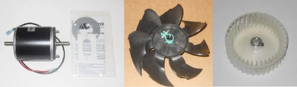 Suburban Furnace Model NT-20SEQ Blower Motor / Air Impeller / Combustion Wheel Kits