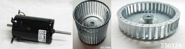 Suburban Furnace Model P-40 Blower Motor / Blower Wheel / Combustion Wheel Kits