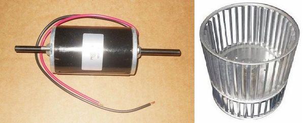 Suburban Furnace Model NT-42T Blower Motor And Blower Wheel Kit