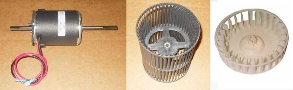Suburban Furnace Model SF-25Q Blower Motor / Blower Wheel / Combustion Wheel Kits
