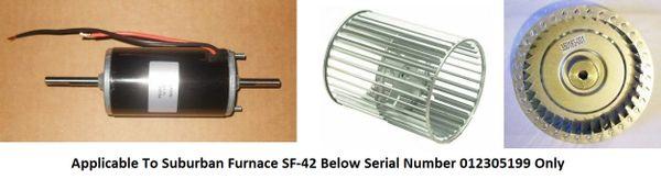 Suburban Furnace Model SF-42 Blower Motor / Blower Wheel / Combustion Wheel Kits