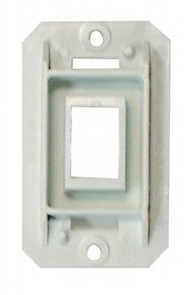 White Single Contoured Switch Assembly Base AH-FLR-1-1