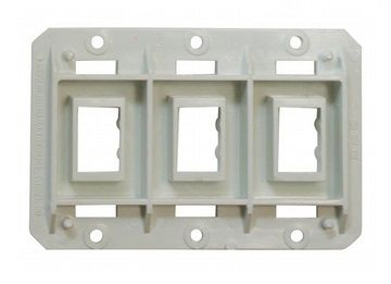 White Triple Contoured Switch Assembly Base AH-FLR-3-1