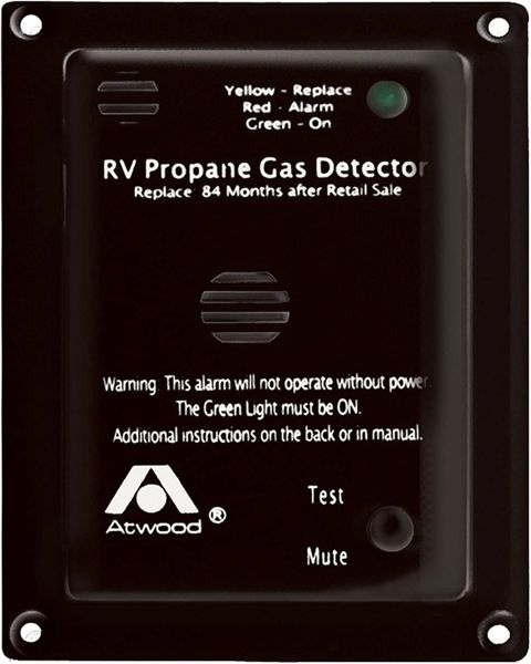 Atwood Black 12VDC Propane Gas Detector 31014
