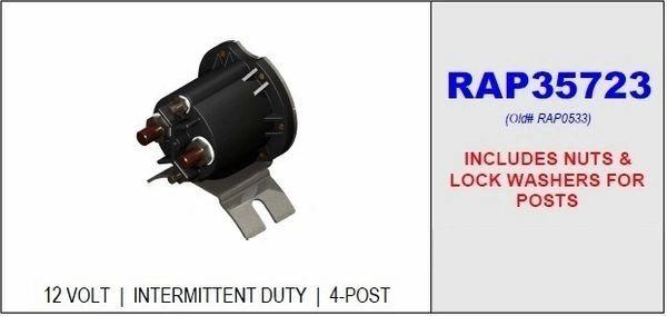HWH Intermittent Duty Pump Relay RAP35723