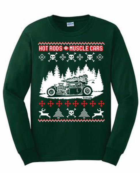 Christmas Ugly Sweater.Hotrods Christmas Ugly Sweater