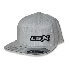 LSX - Snapback Flatbrim (Heather Grey/Stainless Black)
