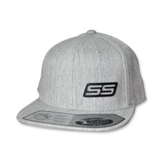 SS - Snapback Flatbrim (Heather Grey/Stainless Black)