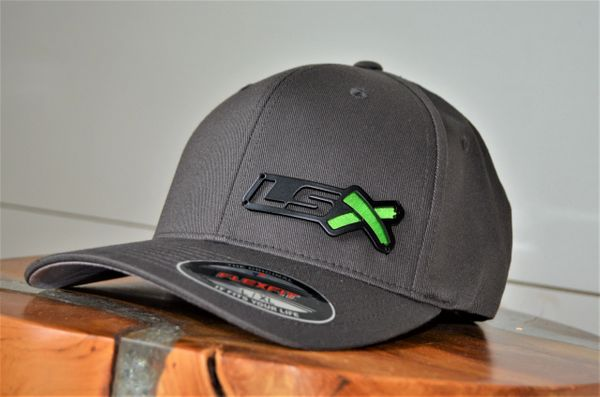 LSX - Flexfit (Charcoal/black with Embroidery X)