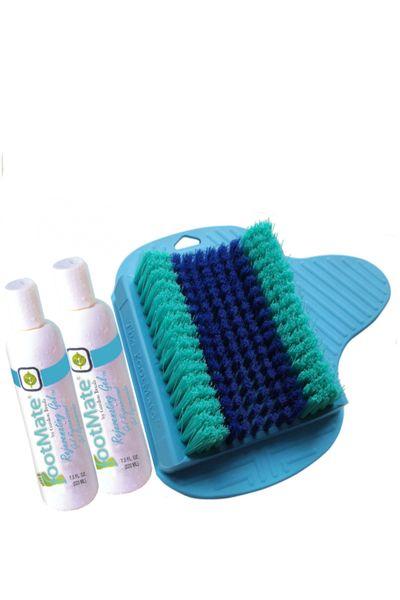 FootMate® Foot Scrubber Shower Mat X2 Gel