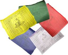 "Tibetan Prayer Flags, 8"" x 9-1/2"""