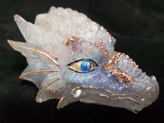 Enchanted Dragon: Pale Pink and Blue