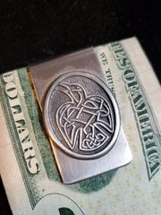 Money Clip: Celtic Raven