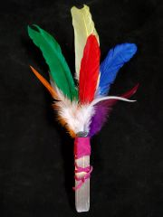 Smudging Feather Wand: Chakra Colors