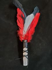 Smudging Feather Wand: Black/Red/White