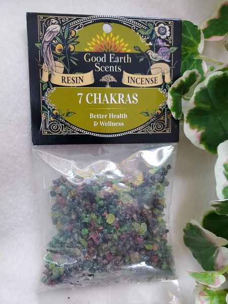 Granular Resin/Incense: 7 Chakras