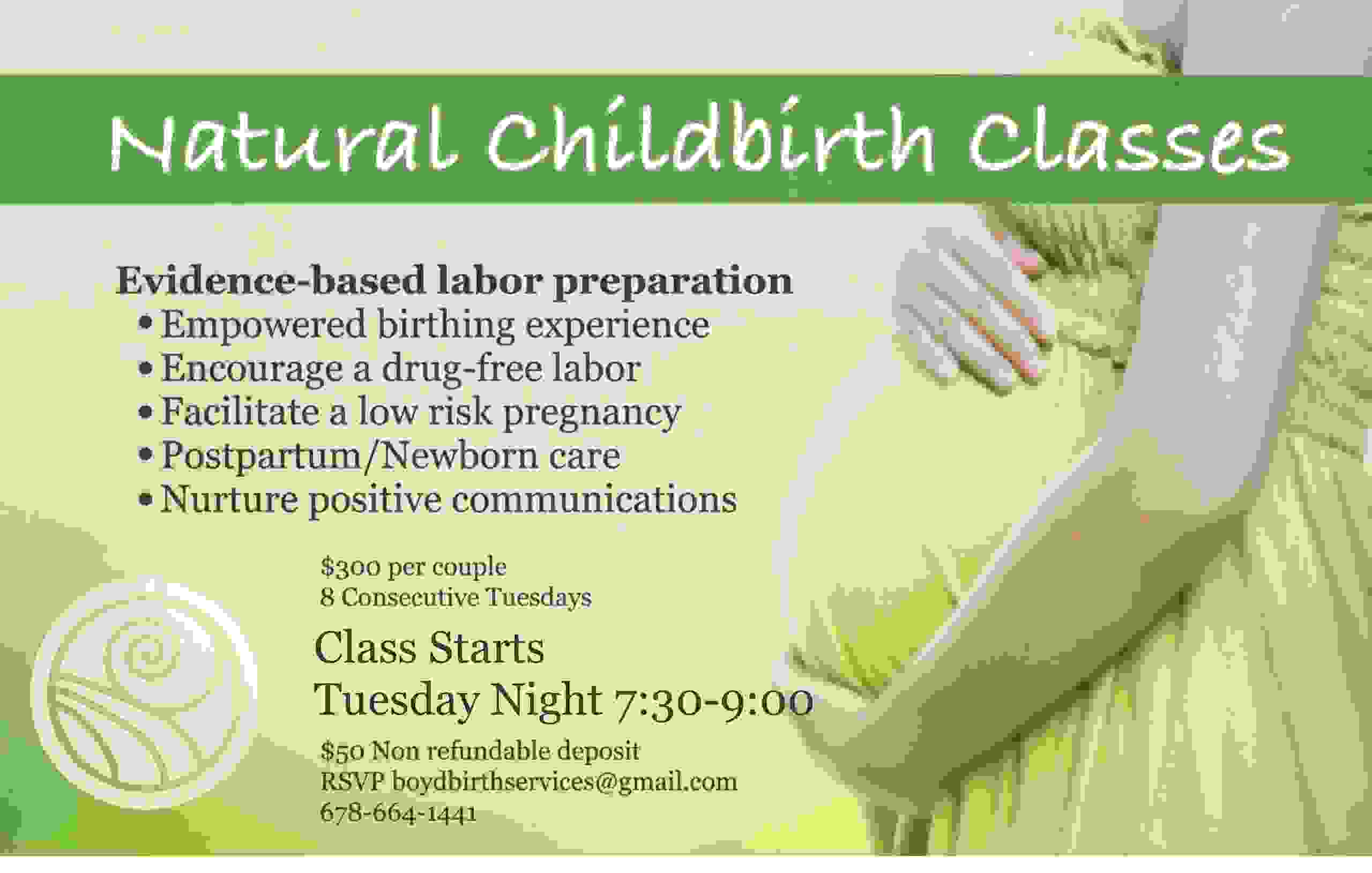 Natural Childbirth Class