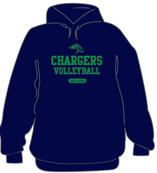 VOLLEYBALL Hoodie with last name on back