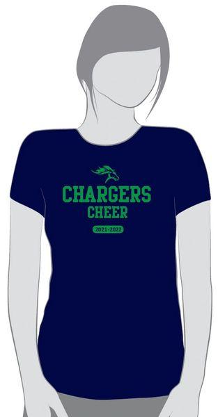 Cheer Navy short sleeve T shirt
