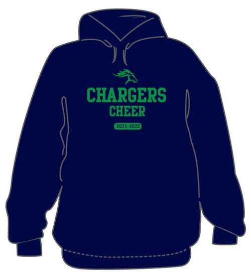 3 Piece Cheer Package- Navy Hoodie, T-Shirt, and long sleeve cotton shirts