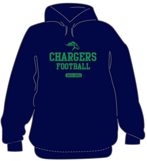 3 piece FOOTBALL Package- Hoodie, T-Shirt, and long sleeve T