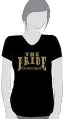 N-Providence Band Black Ladies cut V neck t-shirt