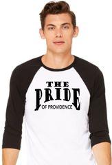 V-Baseball shirt with black The Pride logo