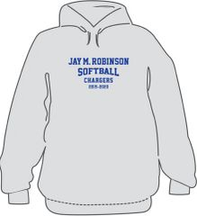 SOFTBALL Hoodie with last name on back