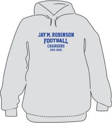 FOOTBALL Hoodie with last name on back