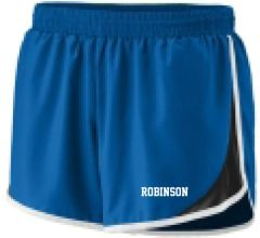 Robinson Ladies/girls shorts- royal with white imprint