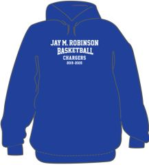 Basketball Hoodie with last name on back
