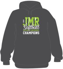Softball Championship Hoodie with last name on back