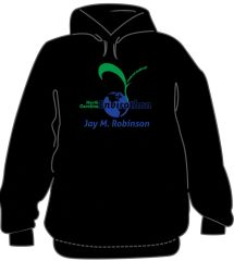 Black Envirothon Hooded sweatshirt with blue name on back