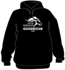 Black Speech and Debate Club hoodies with name on back
