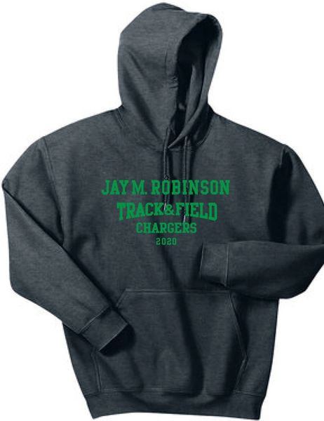 Track and Field Hoodie with last name on back