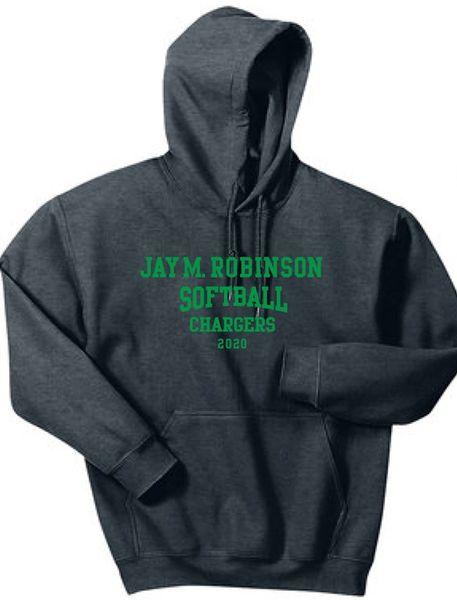 Softball Hoodie with last name on back