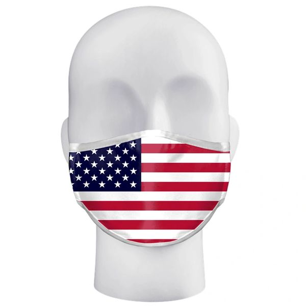 TWO PACK Face Mask/covering with flag with discount