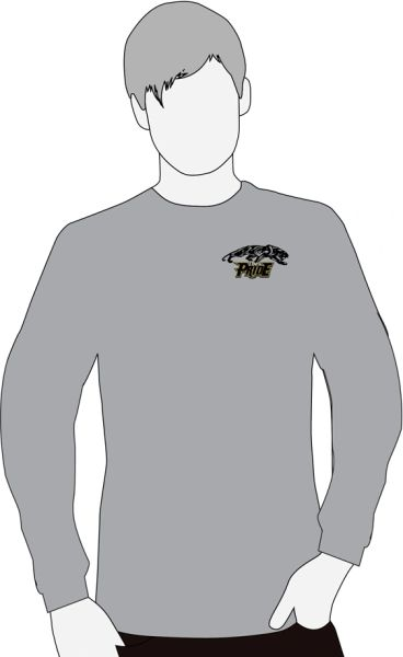 E. Providence Band Two sided print Graphite Gray long sleeve t-shirt